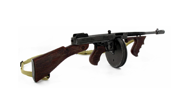 "Thompson M1927 eli ""Chicago Typewriter"" on suosittu dekoase."